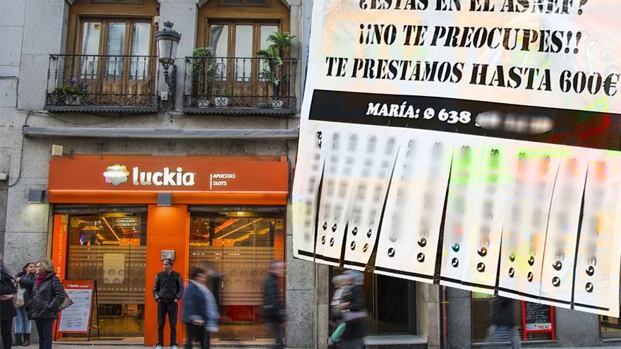 Anuncio de una empresa de préstamos rápidos en Madrid
