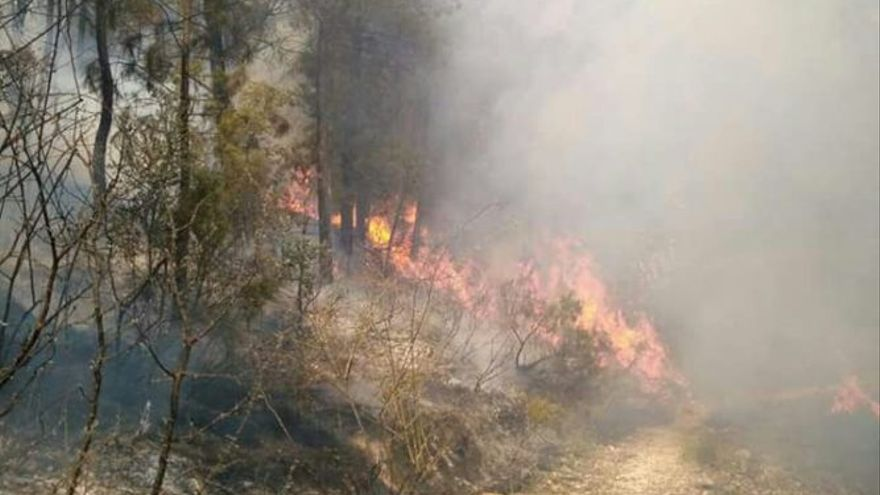 El incendio ha calcinado ya 190 hectáreas.