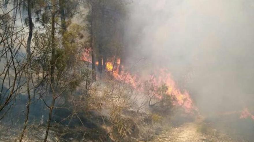 El incendio ha calcinado ya 190 hectáreas.