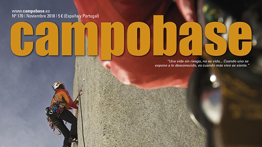 Foto de portada, Stefan Glowacz escalando en Patagonia.