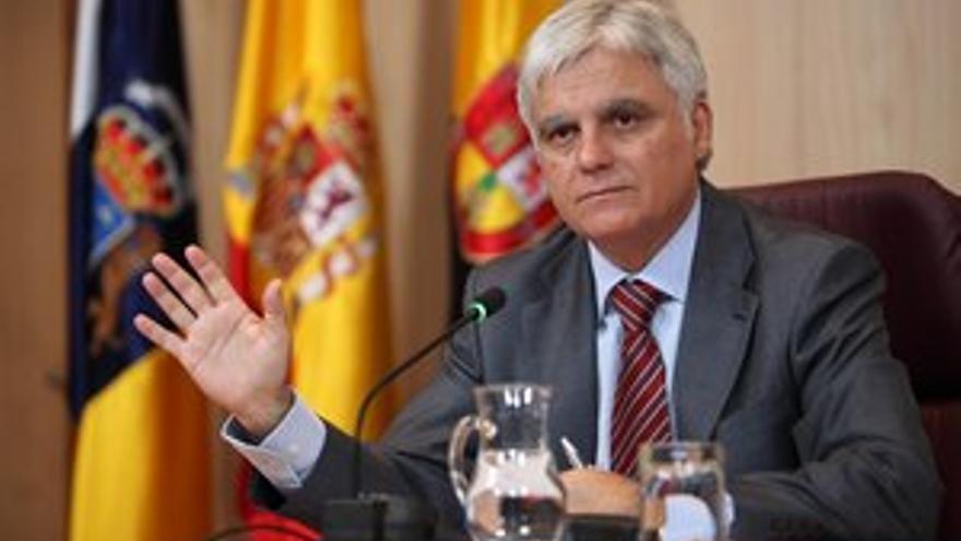 José Miguel Pérez durante la rueda de prensa