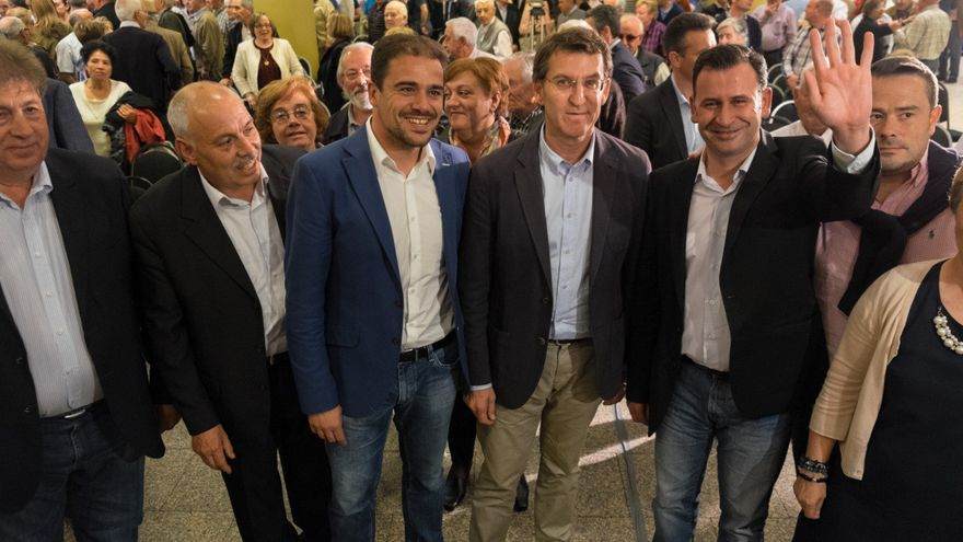 Feijóo, en el mitin del PP en Sarria (Lugo) / PPdeG