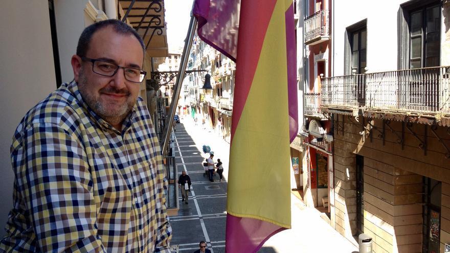 El actual portavoz de I-E y cabeza de lista al Parlamento foral, José Miguel Nuin.