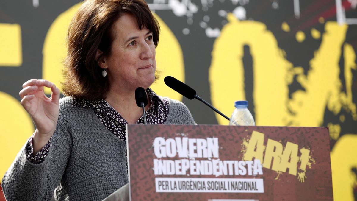 La presidenta de la ANC, Elisenda Paluzie, durante un acto de la entidad
