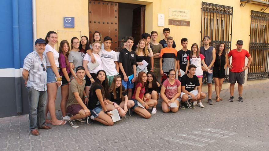 Jóvenes de toda España realizan un campo de trabajo relacionado con los oficios en Bullas, Calasparra y Cehegín