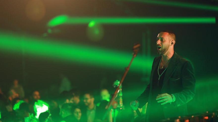 El rapero palestino Tamer Nafar durante un concierto.