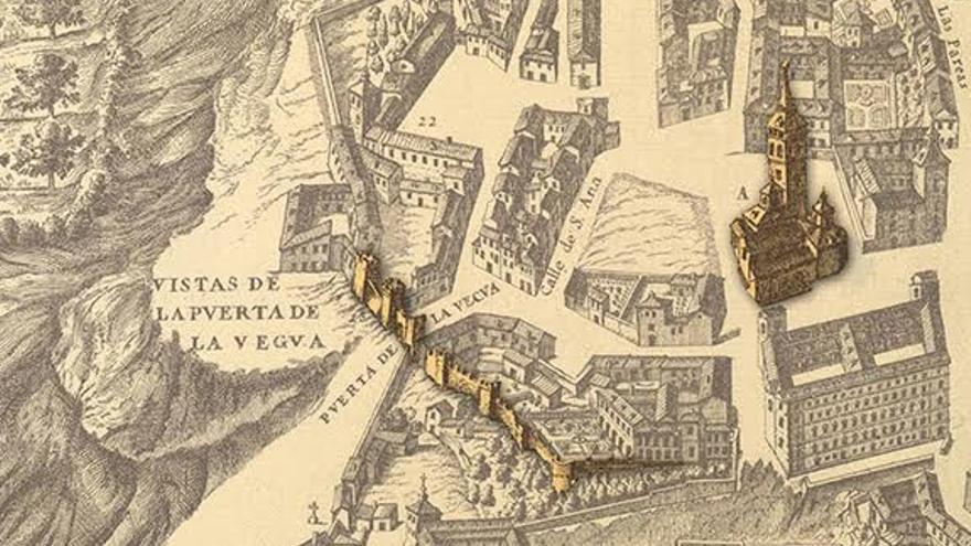 Restos del Madrid andalusí en el plano de Texeira (1656)
