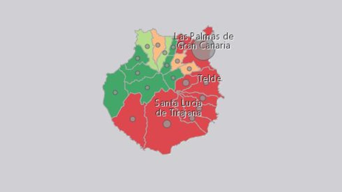 Incidencia del coronavirus en los municipios de Gran Canaria este miércoles 30 de diciembre