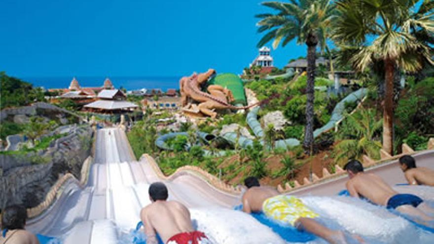 Una de las atracciones de Siam Park, en el sur de Tenerife.