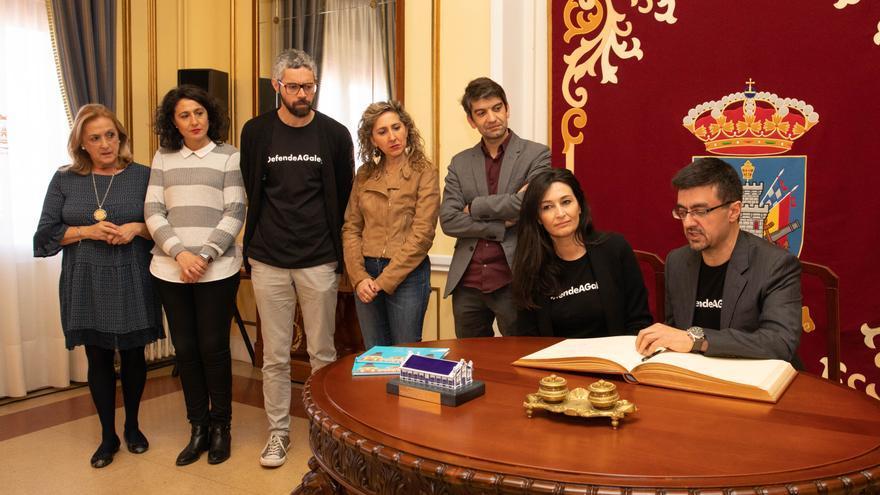 Moyano y Jiménez, recibidos en el Concello de Ferrol en la concesión del premio Couso