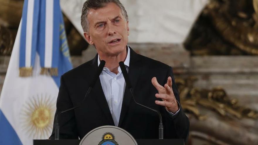 En la imagen un registro del presidente de Argentina, Mauricio Macri, quien viaja este domingo en la tarde a Madrid, para participar de la próxima Cumbre del Clima (COP25).