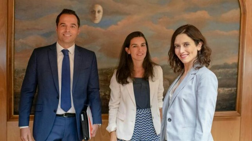 Ignacio Aguado, Rocío Monasterio e Isabel Díaz Ayuso