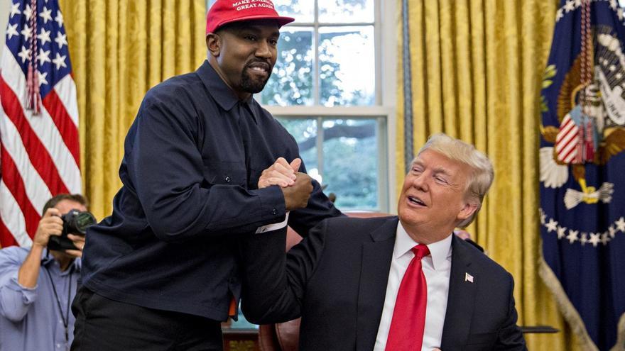Kanye West visitó a Donald Trump en el despacho oval (Casa Blanca)