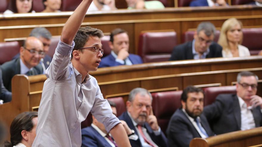 Íñigo Errejón, diputado de Unidos Podemos, al prometer el cargo.
