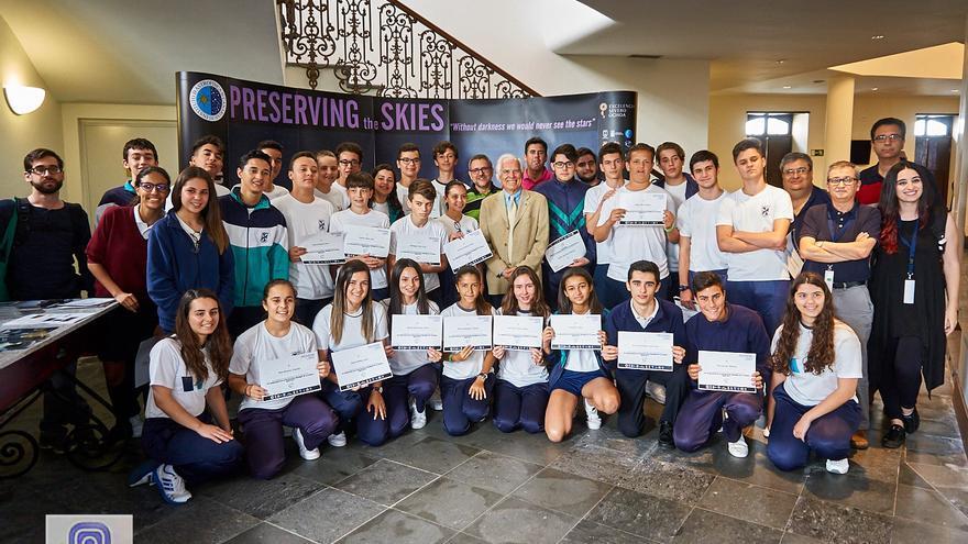 Estudiantes del colegio de La Palmita en el congreso Starlight 2017 celebrado en el Teatro Circo de Marte de Santa Cruz de La Palma.