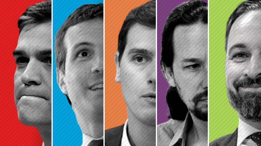 Candidatos a la presidencia del Gobierno en las Elecciones Generales del 28 de abril