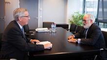 Jean-Claude Juncker y Miguel Arias Cañete.