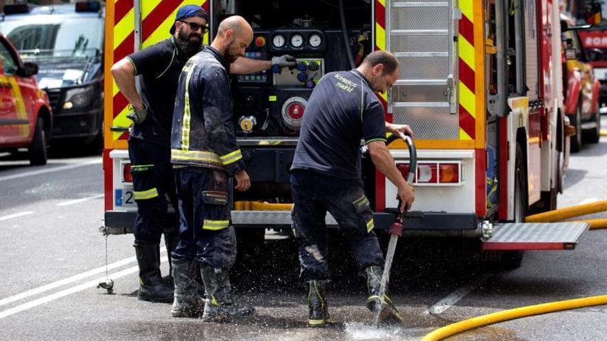 Sigue la investigación del derrumbe de un edificio de Madrid, que será larga