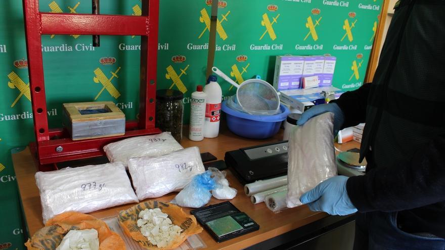 Desarticulada una organización de tráfico de droga en Cantabria con la intervención de 20 kilos de hachís