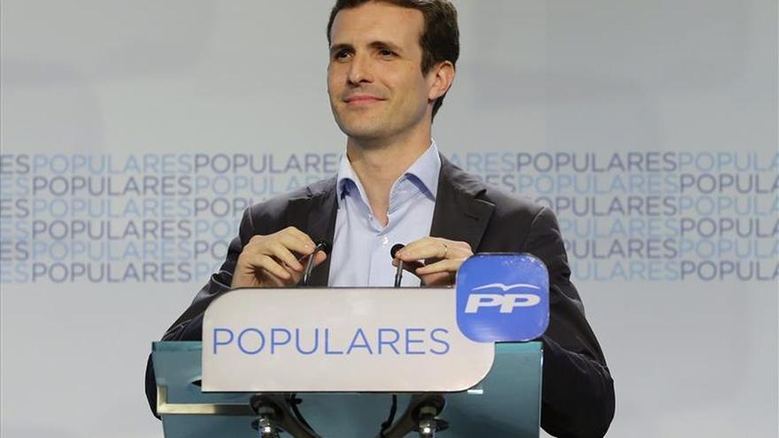 """El PP dice que, según las encuestas, seguiría siendo la """"fuerza mayoritaria"""""""
