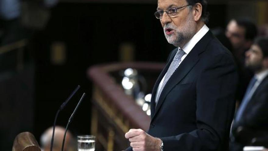 Mariano Rajoy en el debate de investidura.