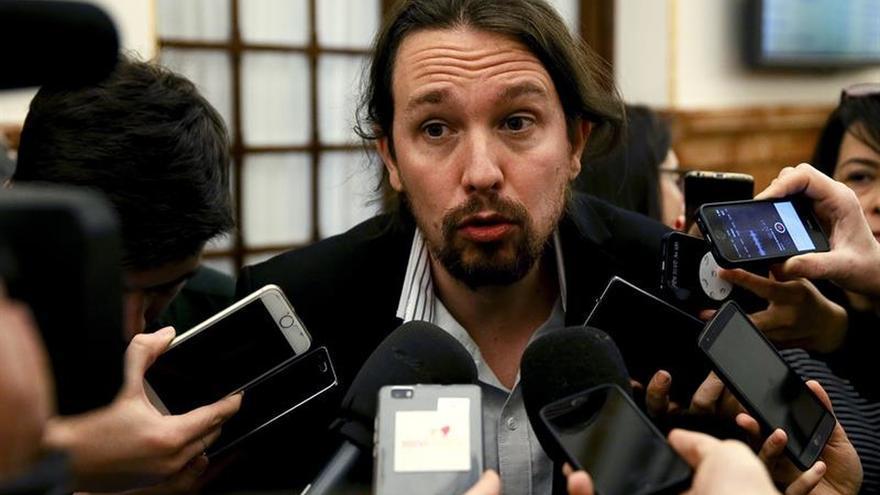"""Iglesias denuncia el """"matonismo"""" del PP y el """"filibusterismo"""" del Gobierno"""