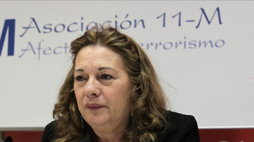 La presidenta de la Asociación 11M Afectados por el Terrorismo, Pilar Manjón