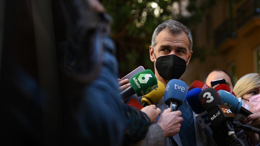 Toni Cantó, tras presentar su renuncia a su escaño por Ciudadanos en las Cortes Valencianas