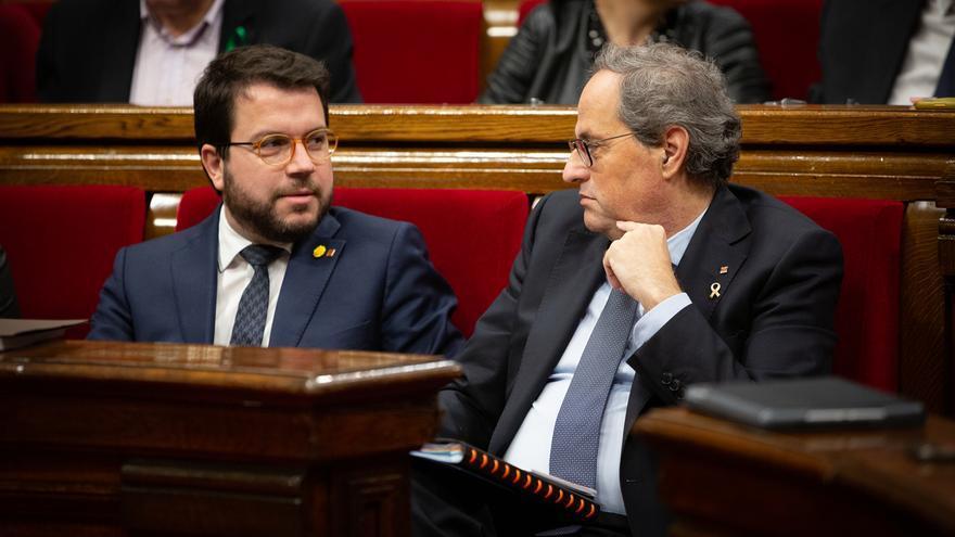 Torra y Aragonès se reúnen en la Generalitat para abordar la reunión con Sánchez