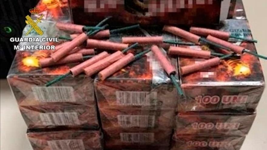 Guardia Civil intervino más de 51.000 artefactos pirotécnicos durante la pasada campaña de Navidad en Bizkaia