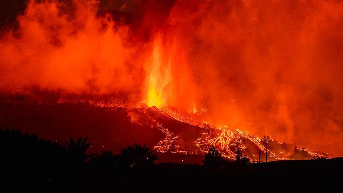 Erupción del volcán de La Palma.