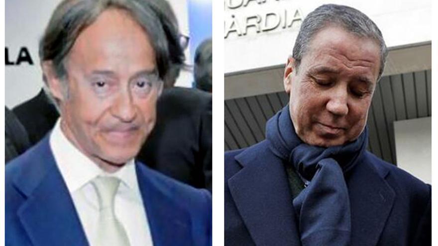 El empresario Adrián de la Joya y el expresidente valenciano y exministro de Trabajo Eduardo Zaplana.