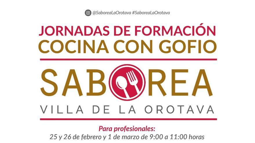 Cartel de las jornadas de 'Saborea La Orotava' sobre el gofio