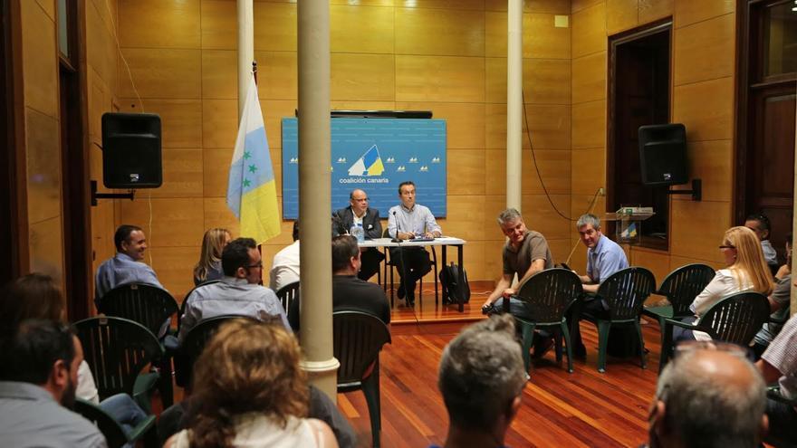 Reunión de la Comisión Ejecutiva Nacional de Coalición Canaria. (ALEJANDRO RAMOS)