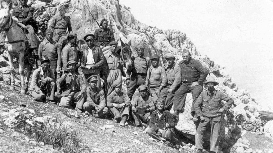 Brigadistas durante 'la Desbandá'.   DOCUMENTATION CENTRE OF AUSTRIAN RESISTANCE, SPANIENARCHIV, VIENA