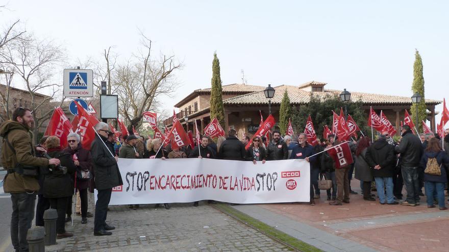 Concentración de los sindicatos ante FEDETO en Toledo / CCOO
