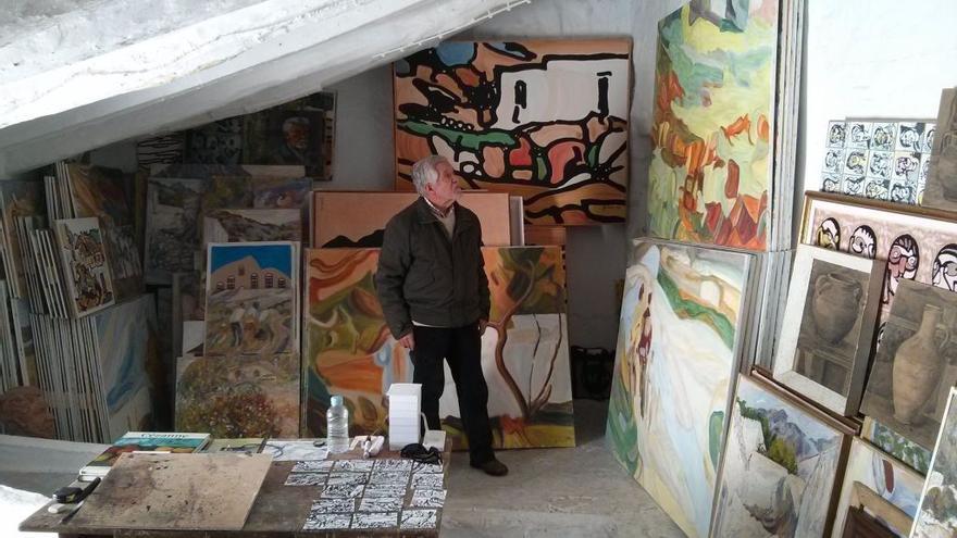 El pintor Antonio Rodríguez Agüera.