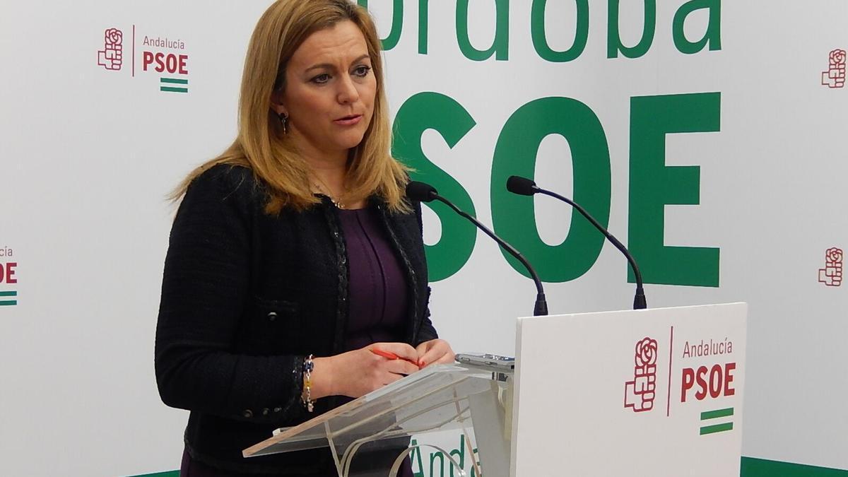 La diputada socialista María Jesús Serrano.