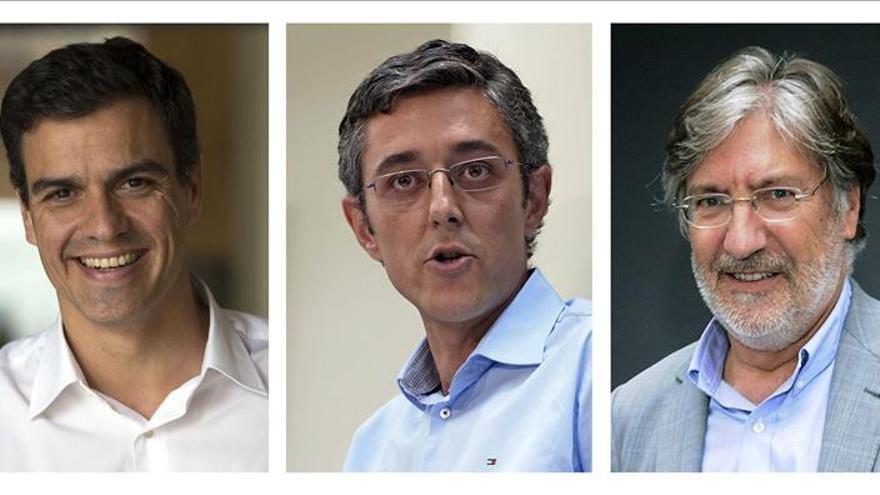 Sánchez, candidato con 41.338 avales, Madina con 25.238 y Pérez Tapias 9.912