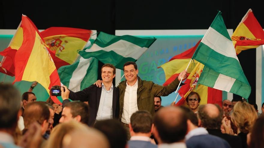 """Casado promete un plan de inversiones """"de verdad"""" para el Campo de Gibraltar y reclama la cosoberanía"""