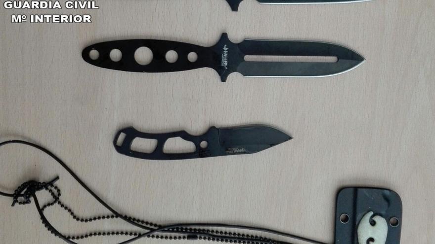Armas blancas intervenidas por la Guardia Civil