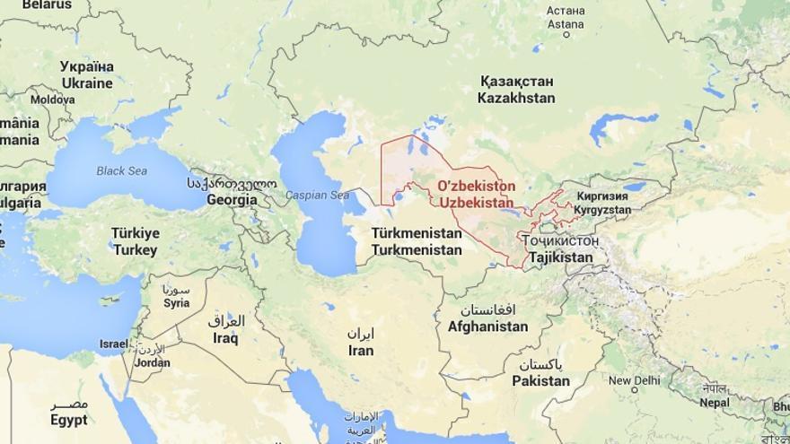 Uzbekistán, situado en Asia Central. / Google Maps.