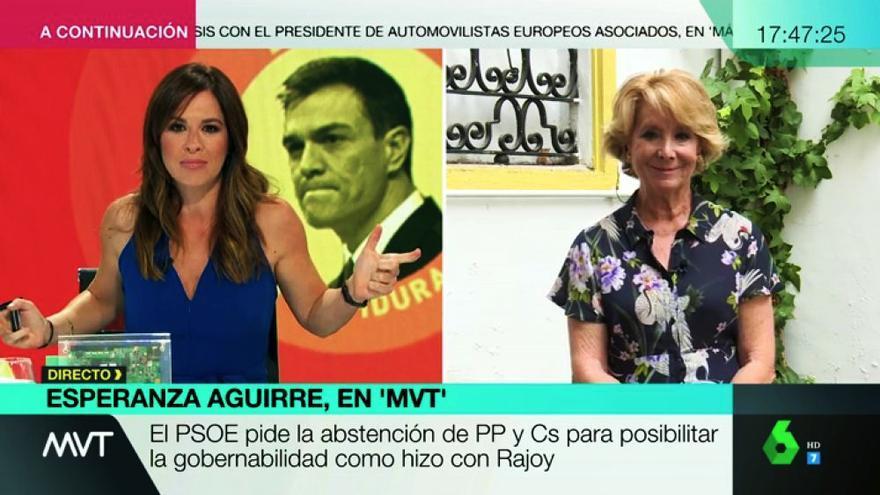 Mamen Mendizábal y Esperanza Aguirre en laSexta