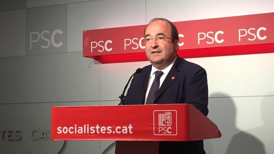 Iceta (PSC) cree que no se puede acusar de sedición a los organizadores de una protesta