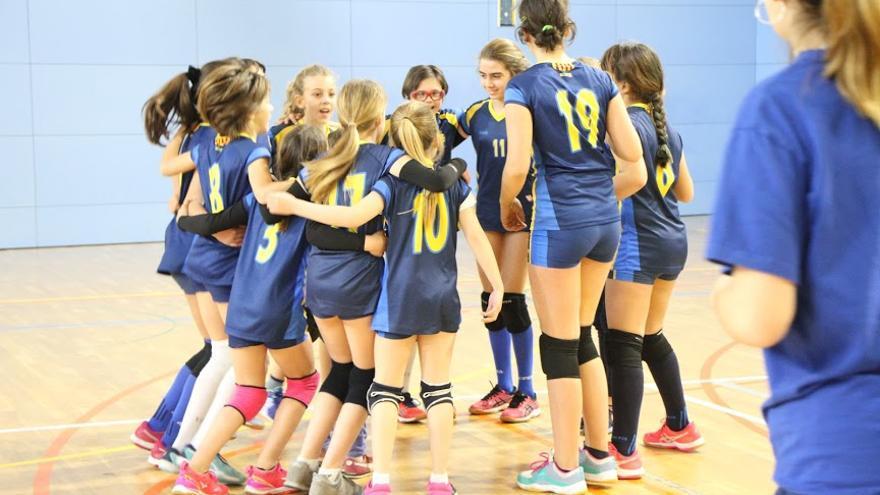Club Volei Esplugues, categoría Infantil C, en el que juega Laia