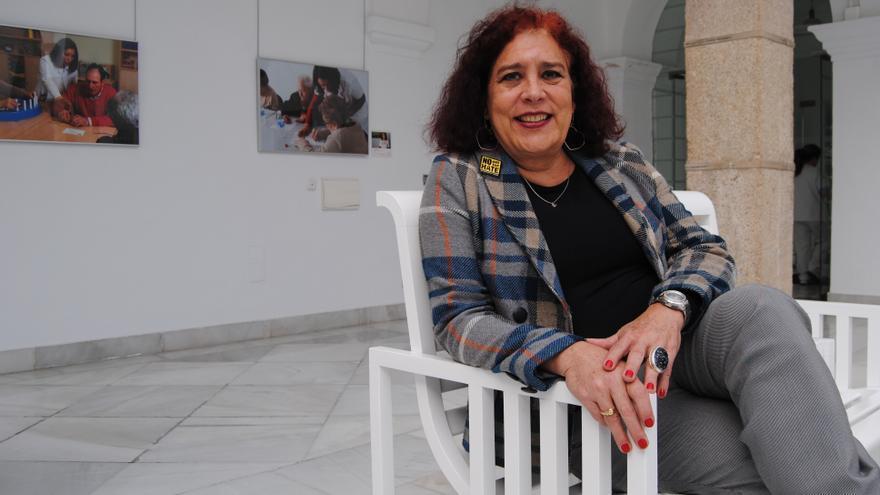 Tamara Adrián, en la Asamblea de Extremadura / JCD