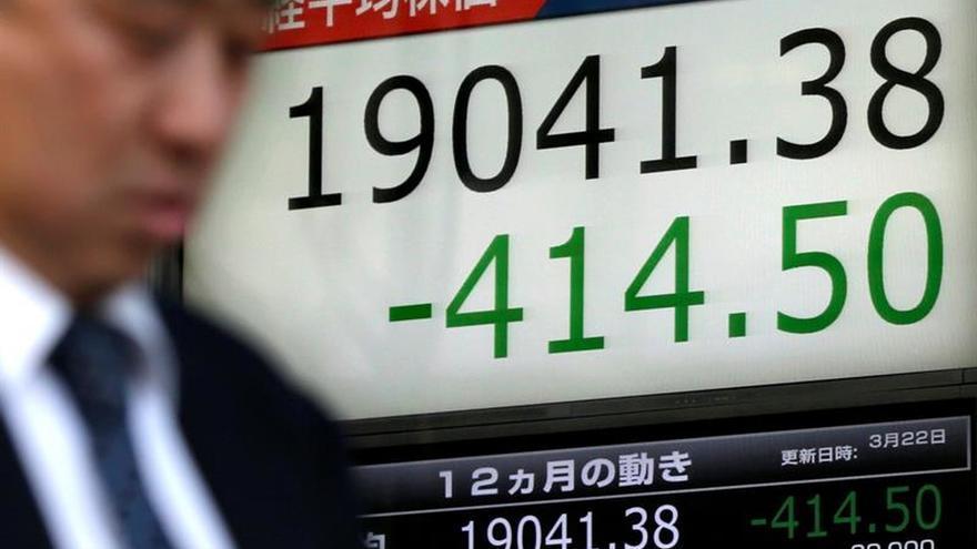 La Bolsa de Tokio toca mínimo intradía en 4 meses por las minutas de la Fed