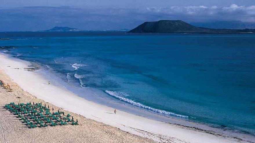 Grandes playas de Corralejo en Fuerteventura