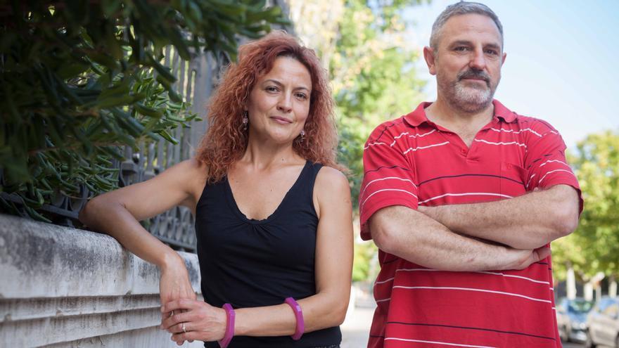 Esmeralda Guillén y Luis Bernúes, del Sindicato Somos