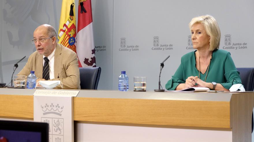 El vicepresidente de Castilla y León, Francisco Igea, y la consejera de Sanidad, Verónica Casado.